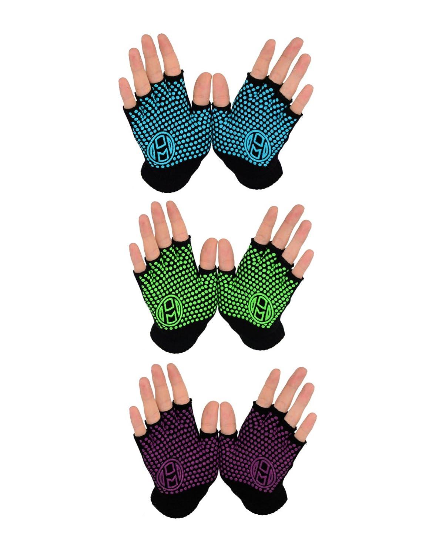 Mato & Hash Yoga Pilates ejercicio sin dedos guantes de ...