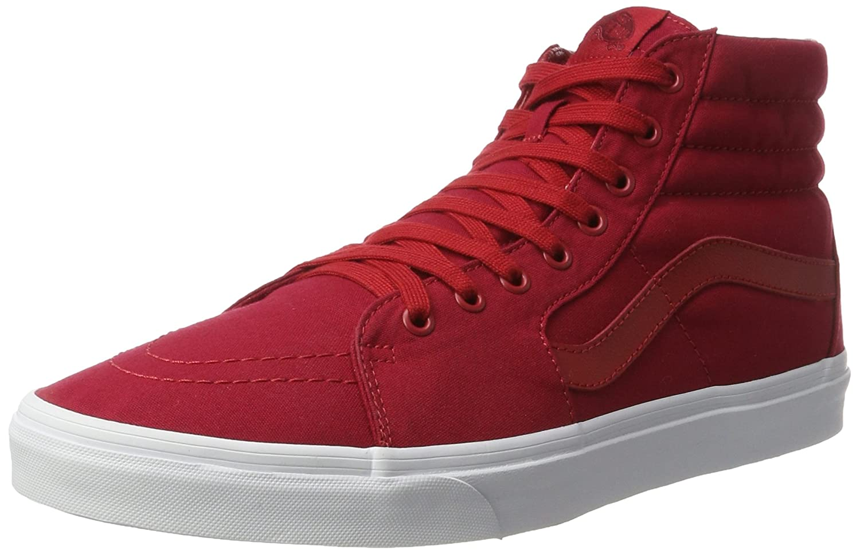 Vans Herren UA Sk8-Hi Hohe Sneakers, Gruuml;n  40 EU Rot (Mono Canvas Chili Pepper/True White)