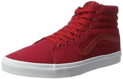 vans sk8 hi women red