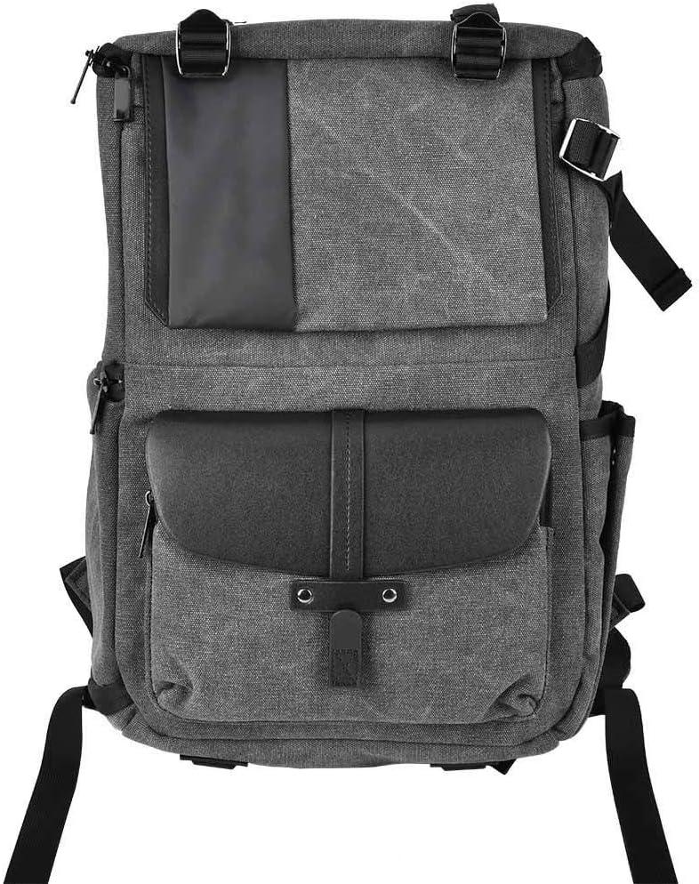 fo sa Camera Backpack Bag Charcoal Gray Waterproof Digital Camera Shoulders Bag 15-inch Laptop Compartment//Camera Lens Fitting Package