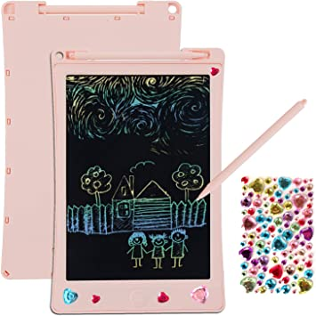 Notepad Draft Board LCD Writing Pad Notepad Electronic Drawing Tablet Graphics Board 8.5 Inches Graffiti Tablet Childrens Writing Board Blue