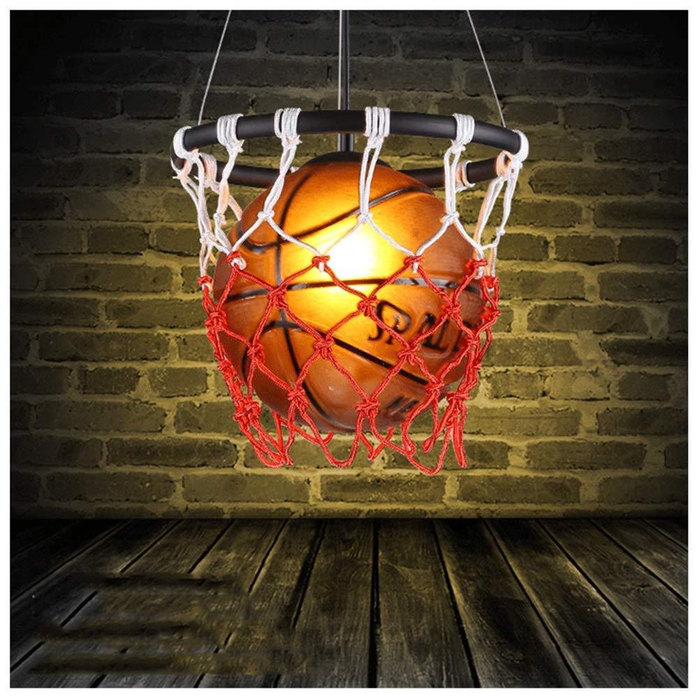 GG_L クリエイティブバスケットボールペンダントライトシンプルでスタイリッシュなシャンデリアガーデンカントリーレストランリビングルーム天井照明子供部屋吊りランプ器具   B07TS1YML9