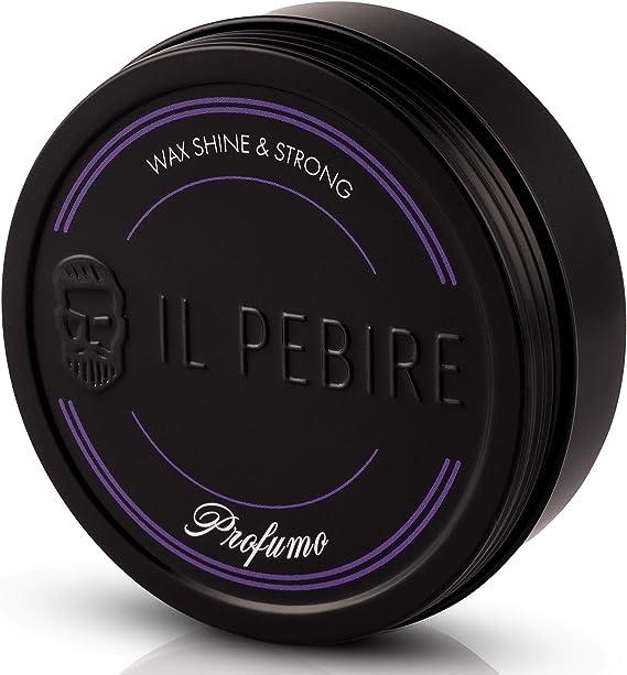 Image ofIL PEBIRE® PROFUMO - pomada a base de agua. Fijación extra fuerte. Efecto de alto brillo para un acabado brillante. Cera para cabello brillante para cabello corto a largo. Refinado con perfume real.