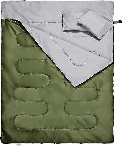 Amazon.com: Saco de dormir doble Reehut, para adultos en ...