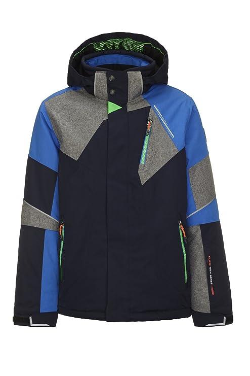 Killtec Jungen Marshal Jr Skijacke / Funktionsjacke mit abzippbarer Kapuze und Schneefang
