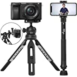 """6 in 1 Monopod Tripod Kit by Altura Photo – Universal 55"""" Telescoping DSLR Camera, GoPro, Cell Phone Holder Selfie Stick with Tripod Base, 360 Ball Head and Carry Bag"""