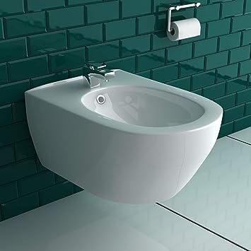 Colgante cerámica WC y bidé pared WC/inodoro con asiento de inodoro Soft Close baño: Amazon.es: Bricolaje y herramientas