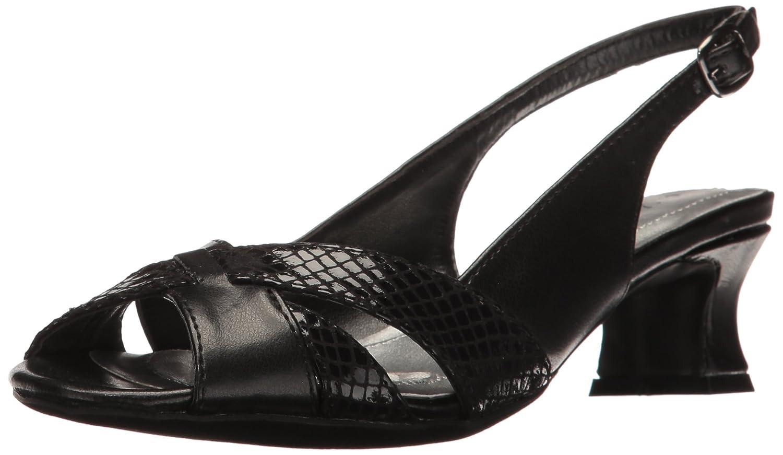 Easy Street Women's Ariel Dress Pump B01NACLTMT 7.5 W US|Black/Snake
