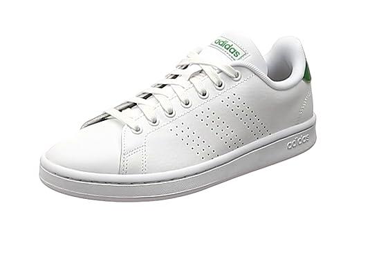 pretty nice cced7 9af58 adidas Advantage, Scarpe da Tennis Uomo, Bianco Ftwbla Verde 000, 42 2