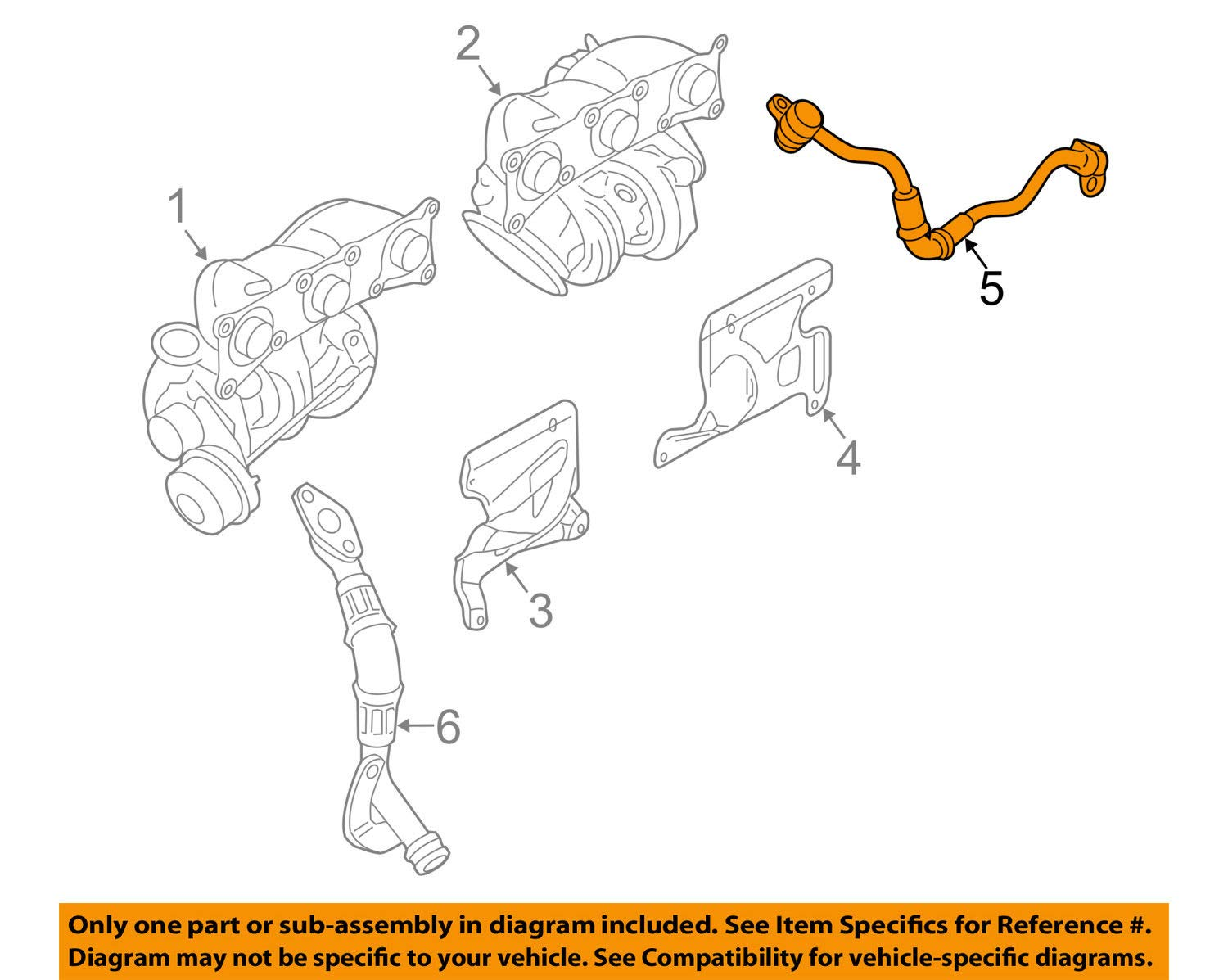 BMW 11-42-7-562-798 - Oil Pipe Inlet 111060