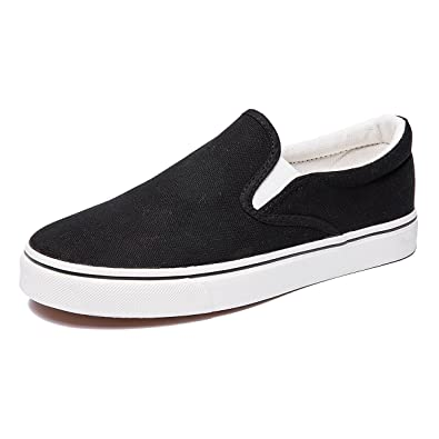 fbb338a8f3ae5 ZGR Women's Slip On Canvas Loafer Shoes Fashion Low Cut Sneakers