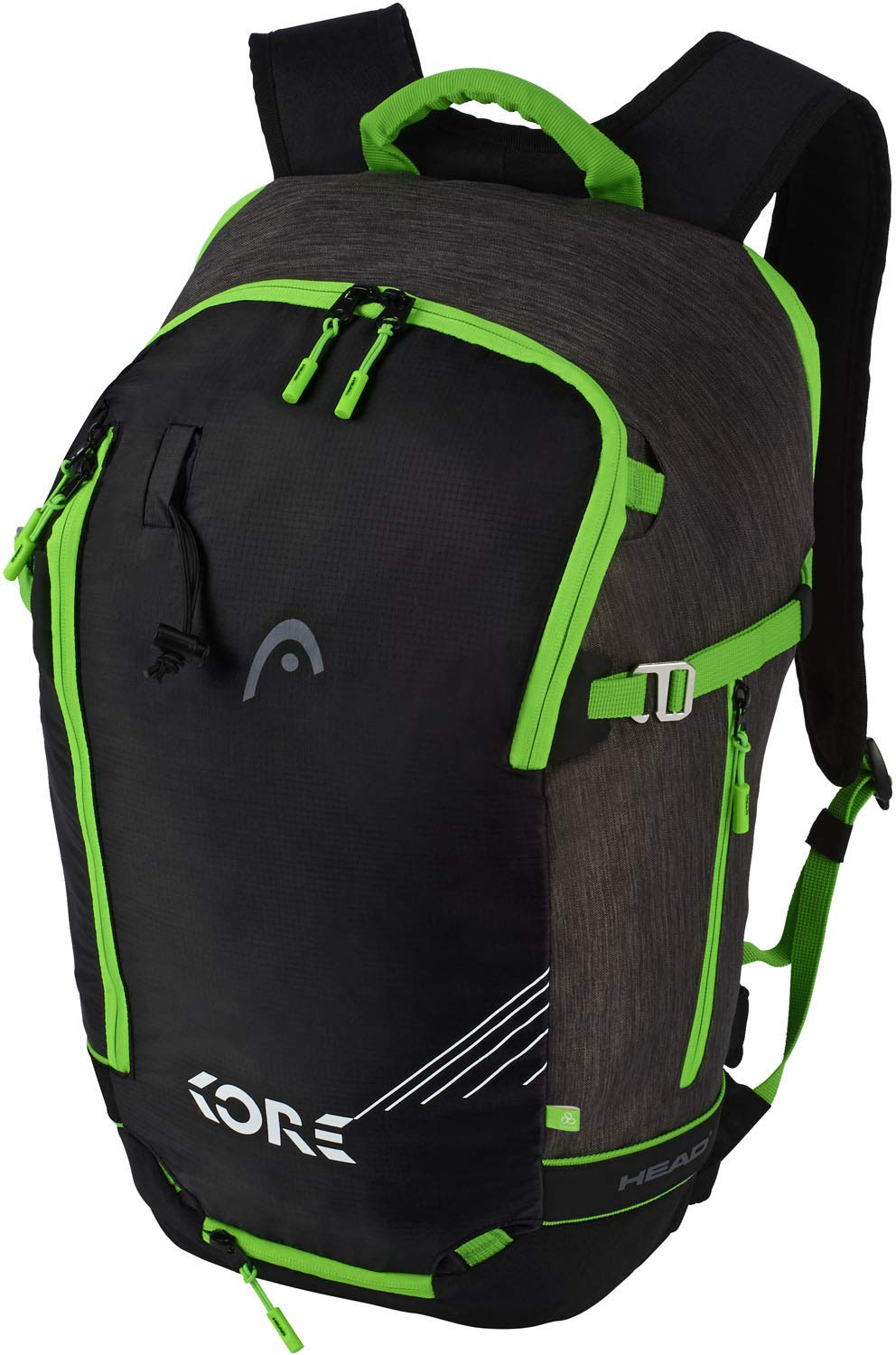 HEAD Freeride EOP 1.0 Skirucksack Anthracite/Neon Green, 30 x 50 x 21 cm, 20 L