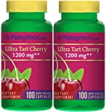 Piping Rock Ultra Tart Cherry 1200 mg 2 Bottles x 100 Quick Release Capsules Dietary Supplement