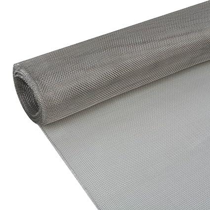 vidaXL Malla Plateada Material Acero Inoxidable 202 Dimensiones 100 x 1000 cm