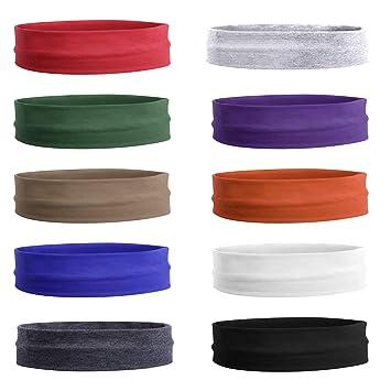 Amazon.com: Teemico 10 unidades 3 pulgadas algodón diademas ...
