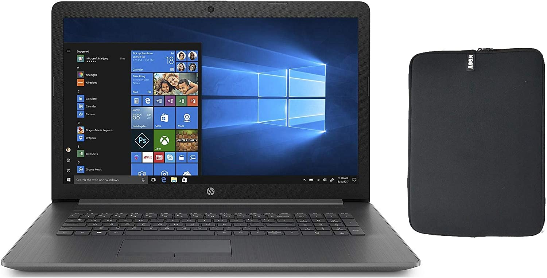 HP 17.3 HD+ Laptop Bundle with WOOV Accessory, 8th Gen Intel Quad Core i5-8265U (Beat i7-7500U), 12GB RAM, 256GB SSD, DVD-RW, Card Reader, HDMI, WiFi, Windows 10 Home