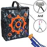 Junpro Target Pouch Storage Carry Equipment Bag with 2PCS Hooks for Nerf Guns Darts N-strike Elite / Mega / Rival Series