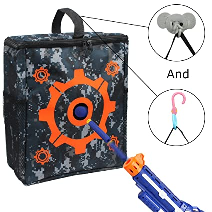 Image Unavailable. Image not available for. Color  Junpro Target Pouch  Storage Carry Equipment Bag with 2PCS Hooks for Nerf Guns Darts N- c5c930b76