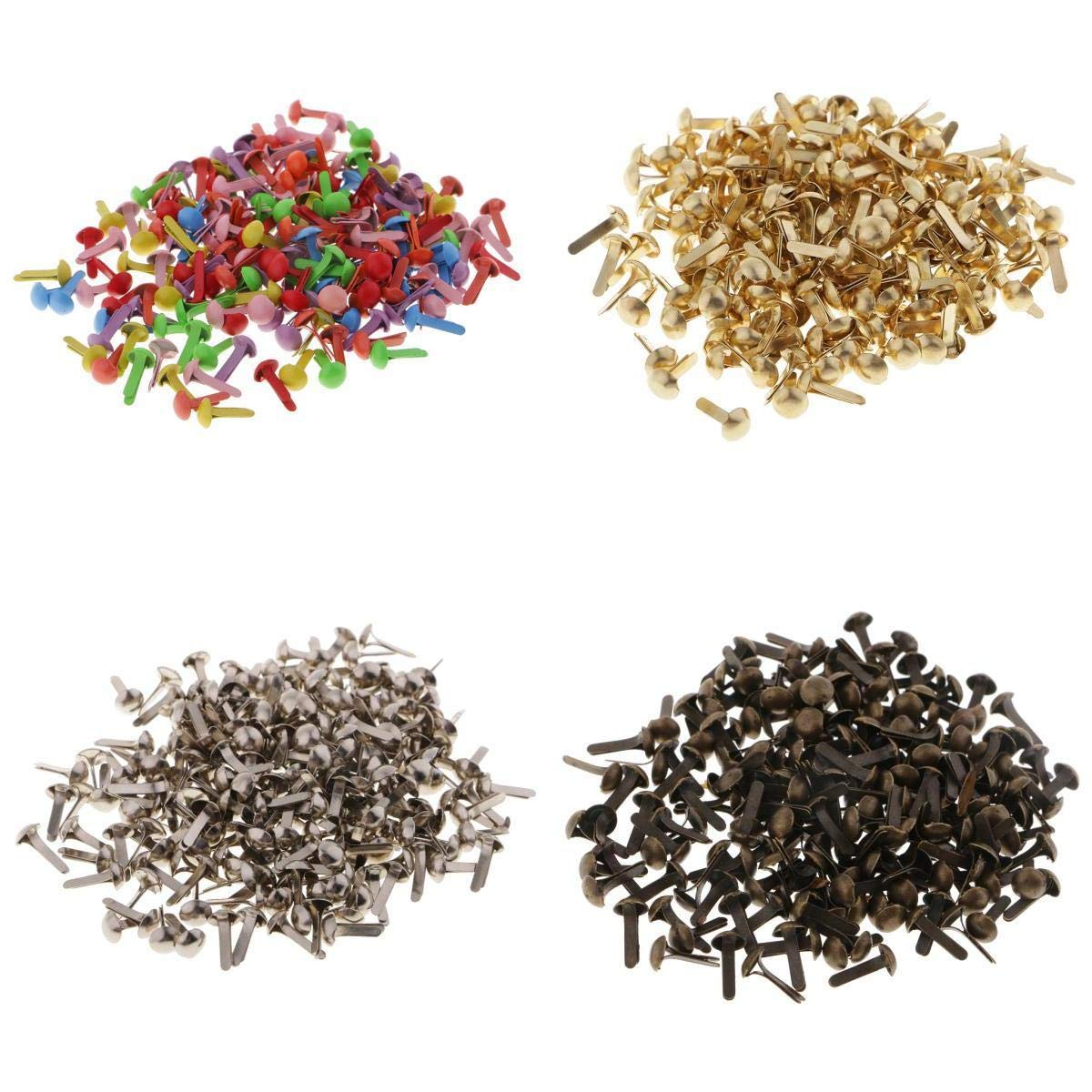 Computer accessories - 800pcs Mini Decorative Round Head Split Pins Metal Brads Paper Fasteners for Scrapbooking Paper Craft Office Stationery by trang tri