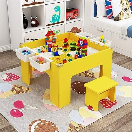 OUY Mesa Infantil Infantil Juegos de Arena de Mesa Bloques de construcción de Mesa de Juegos