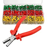 szdealhola 990pcs Cord End Terminals Assortment Kit Pre-Insulated Ferrules Terminals Crimping Tool Crimper Plier Set