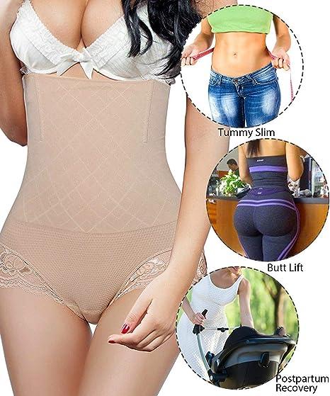 Larry/&Marry Women Tummy Control Belly Girdle Waist Trainer Cincher Body Slim Shapewear Butt Lifter Enhance Panty