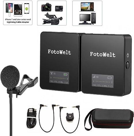 Fotowelt Air UHF - Micrófono inalámbrico Compacto para cámara ...