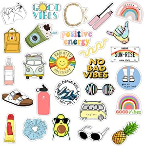 VSCO Stickers for Hydro Flask Stickers 35-Pack,Cute Water Bottle Stickers Perfect for Hydroflask,Laptop,Phone,Luggage,Tablet,Compartment,Skateborad,Yeti,Aesthetic Durable Sticker for Girls Teens Kid