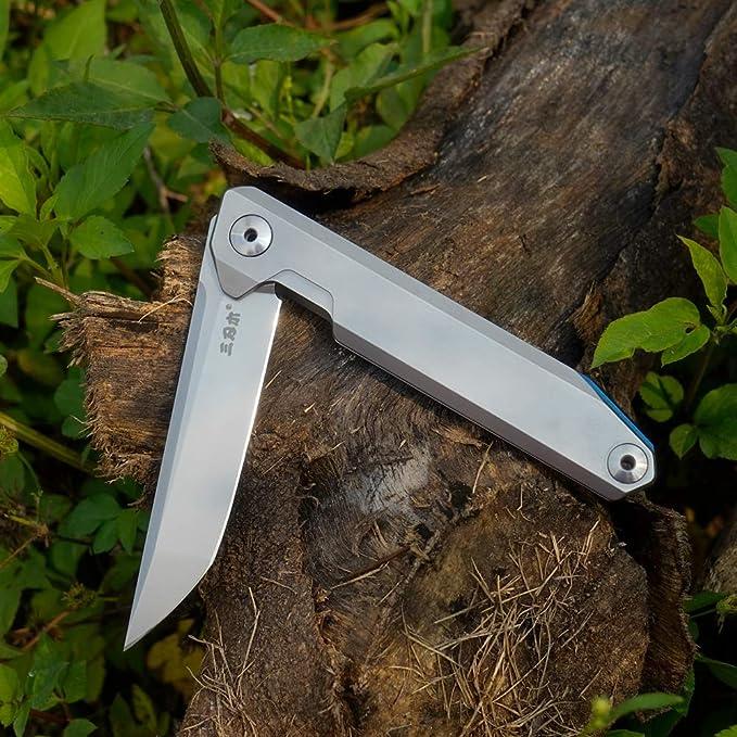 Sanrenmu 1161 EDC Pocket Folding Knife 14C28N Stainless Steel