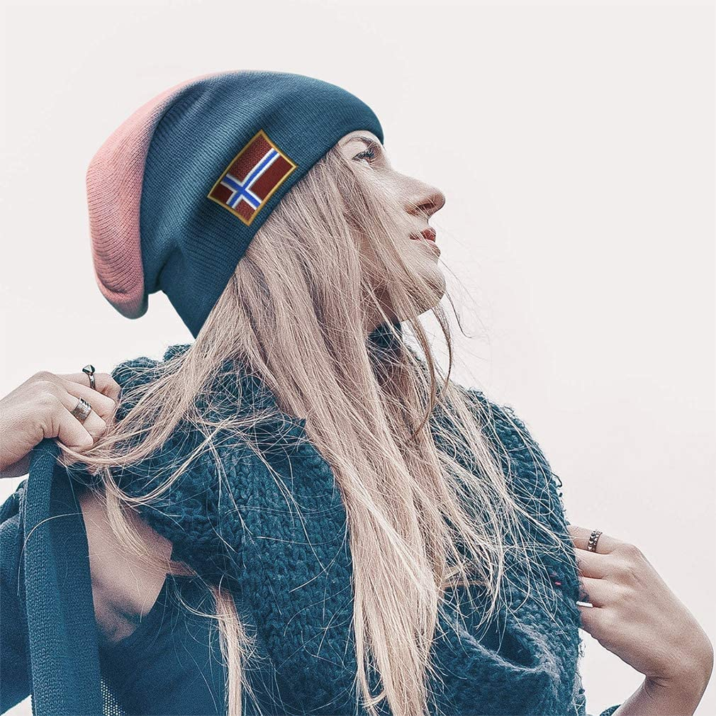 One Size Speedy Pros Norway Embroidered Unisex Adult Acrylic Slouch Beanie Winter Hat