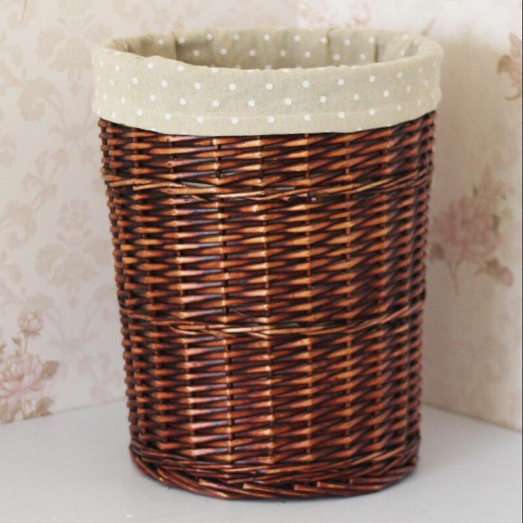 Diameter 40cm Lagerung Korb CHENGYI No Cover braun Wave Point Tuch Dirty Clothes Setzen Sie EIN Spielzeug Spielzeug Eimer Dirty Basket Wäschekorb Dirty Clothes Basket Rattan (Größe   Diameter 40cm)