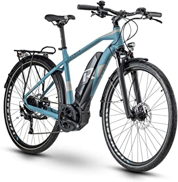 RAYMON Tourray E 5.0 Pedelec 2020 - Bicicleta eléctrica, color azul y gris, tamaño 60 cm, tamaño de rueda 28.0: Amazon.es: Deportes y aire libre