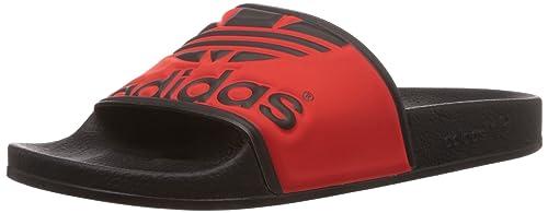 save off 9e6d2 9b27b adidas Originals Adilette Trefoil, Ciabatte Unisex – Adulto, Multicolore  (Mehrfarbig RedCore