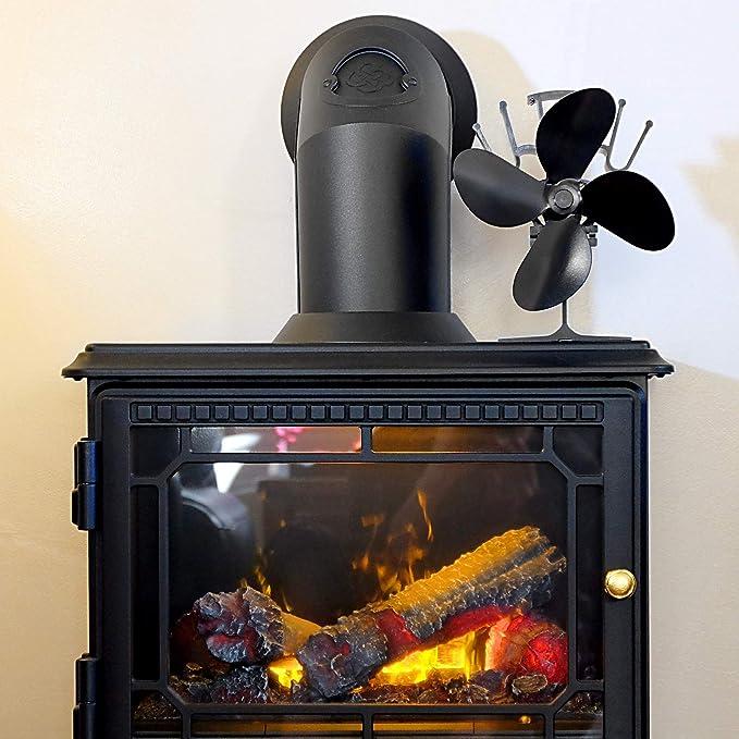 Ventilador de Estufa de 4 Cuchillas Accionado por Calor ...