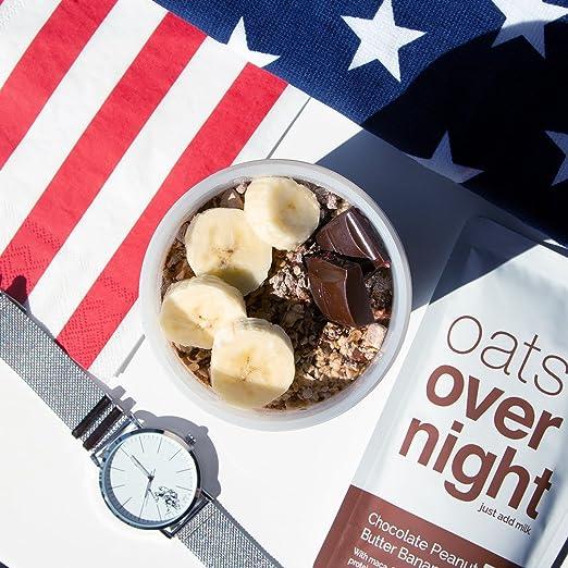 Oats Overnight Mantequilla de cacahuete del plátano (3 onzas ...