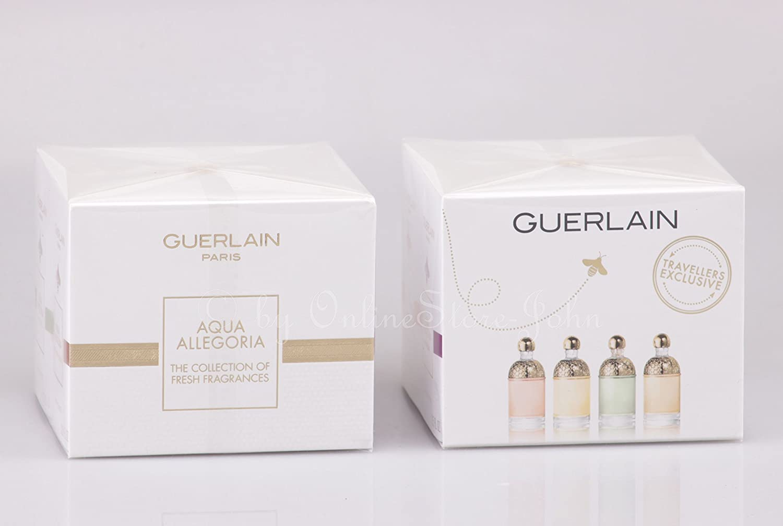 Guerlain - Aqua Allegoria - Collectors Edition - 4 x 7, 5ml EDT Miniaturen - Mandarine Basilic + Pamplelune + Limon Verde + Passiflora