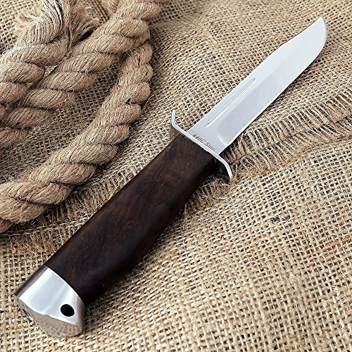 Hunting Knife - Fixed Blade Bowie Knife with Guard - Finnish Puukko Blade Knife 024 ACWP