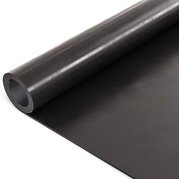 ANRO Gummimatte Schutzmatte Noppenmatte Bodenmatte Breitriefen Gummil/äufer 100cm Breit 3mm stark Schwarz 220 x 100cm