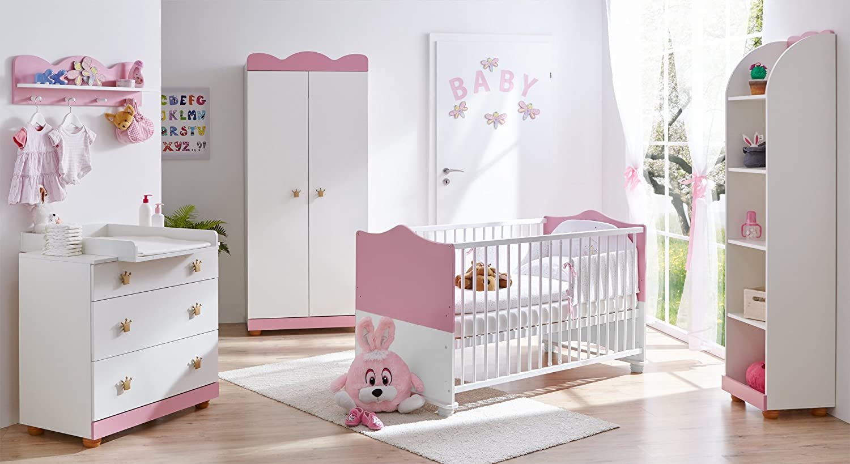 TICAA Babyzimmer Prinzessin 5-teilig Rosa
