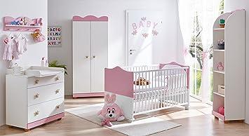 Prinzessin Babyzimmer ticaa babyzimmer prinzessin 5 teilig rosa amazon de baby