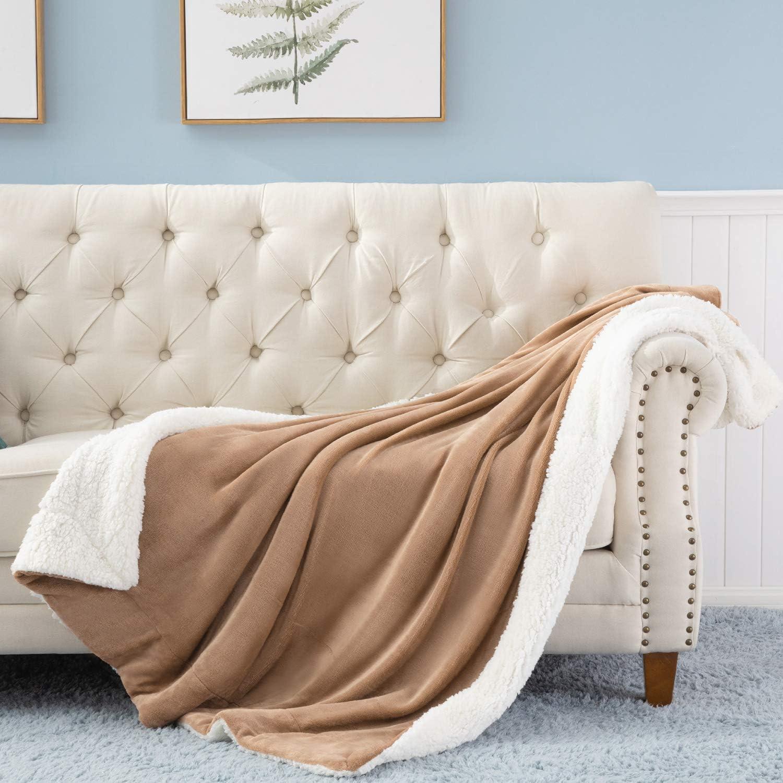 柔软温暖超细纤维夏尔巴羊毛毛毯