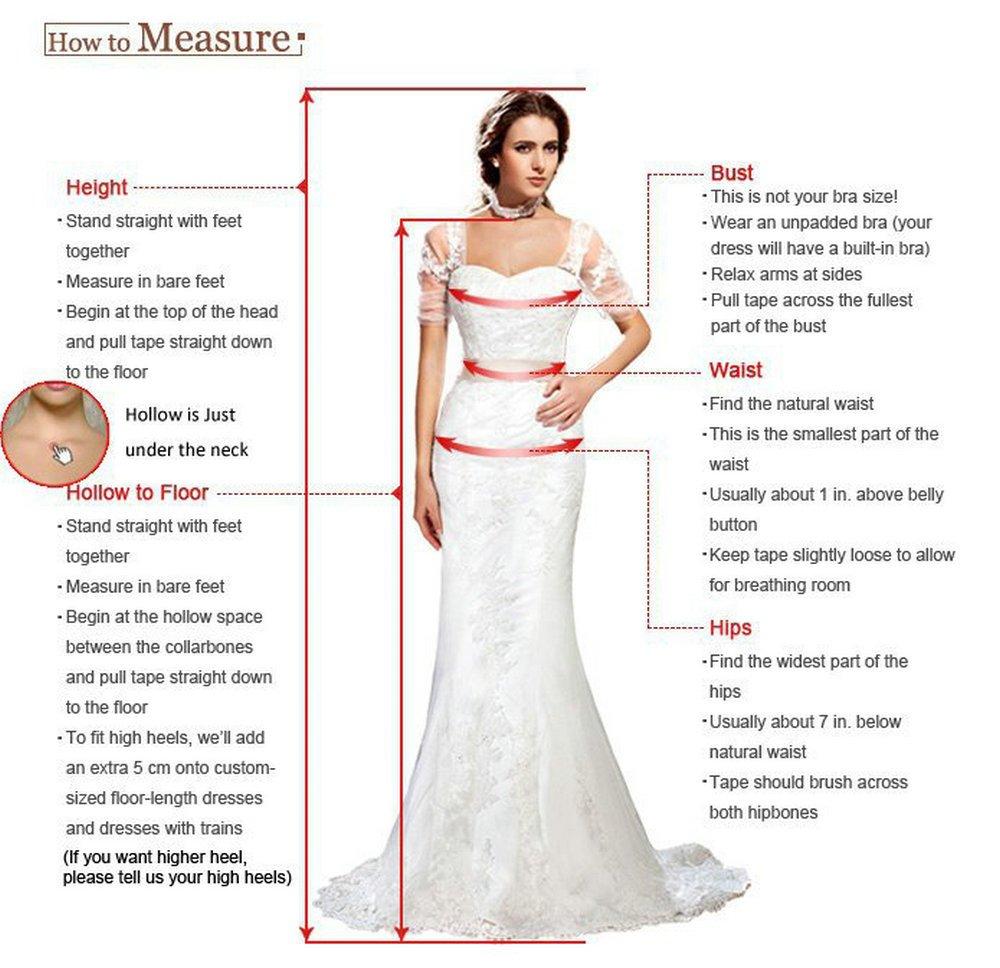 JAEDEN Elegant Lace Beach Wedding Dresses Chiffon V Neck A Line Long Bridal Gown White US22W by JAEDEN (Image #7)