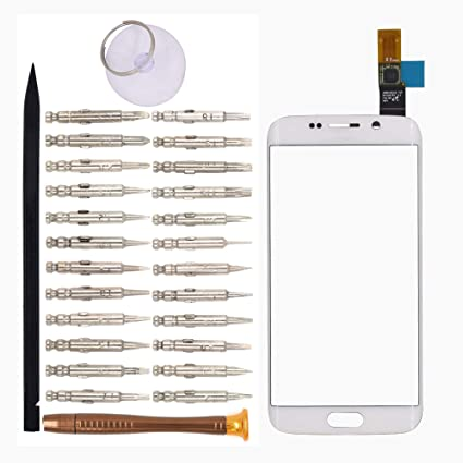Goodyitou Touch Screen Glass Digitizer Replacement for Samsung Galaxy S6  edge/G925F/G925FQ/G925I/G925A/G925T(White)
