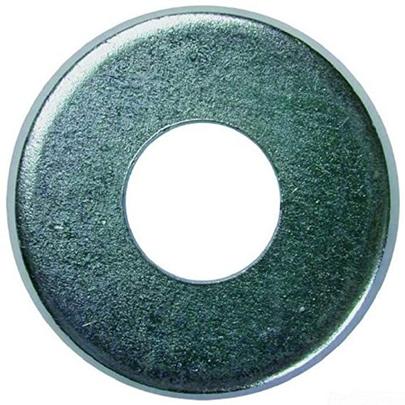 100-Pack 3//8-Inch Bolt 7//16-Inch Inner Diameter by 1-Inch Outer Diameter by 1//16-Inch Thickness Dottie FWBZ38 Flat Washer L.H