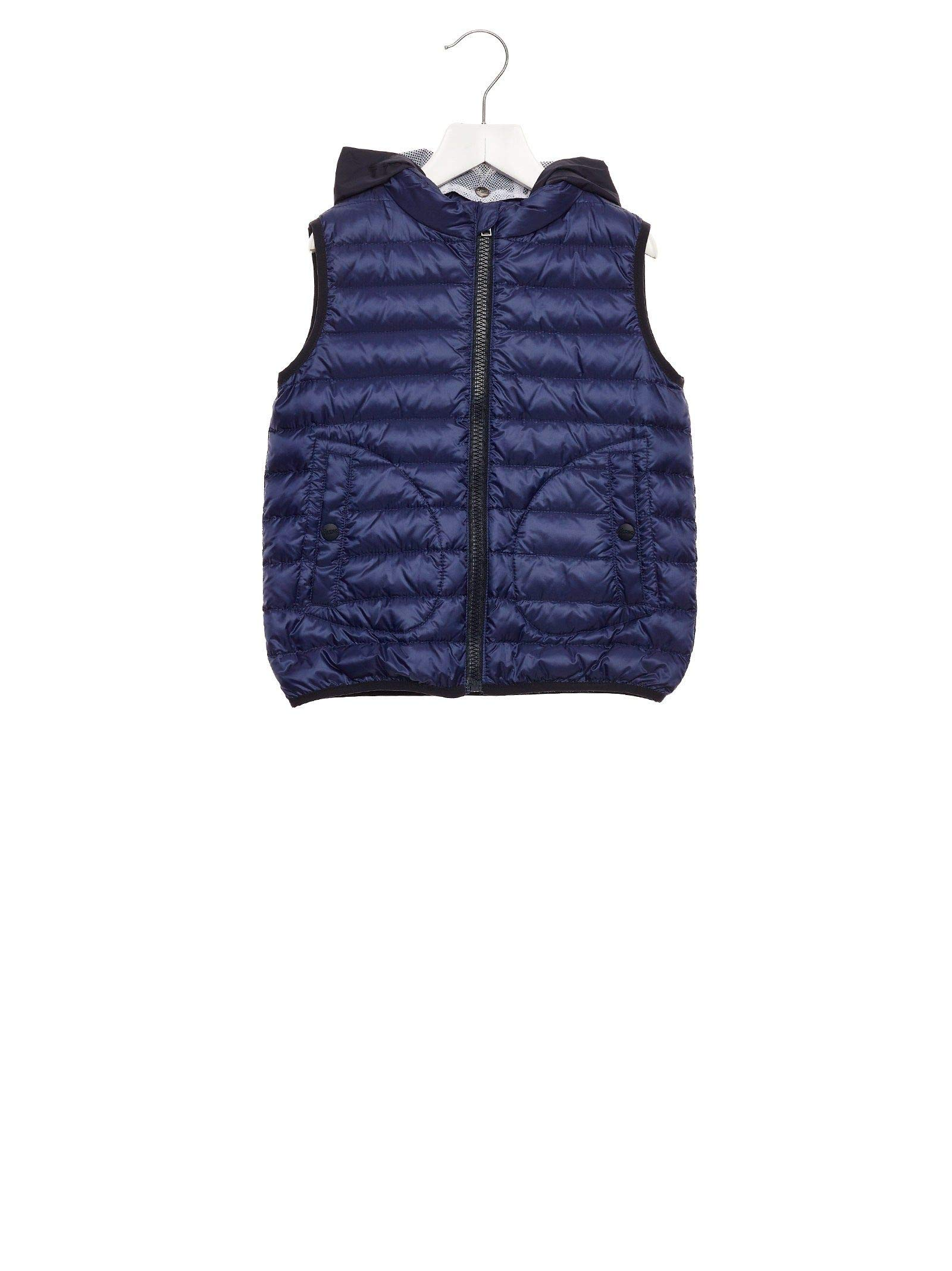 Herno Luxury Fashion Boys PI0042B120209248 Blue Vest | Fall Winter 19 by Herno