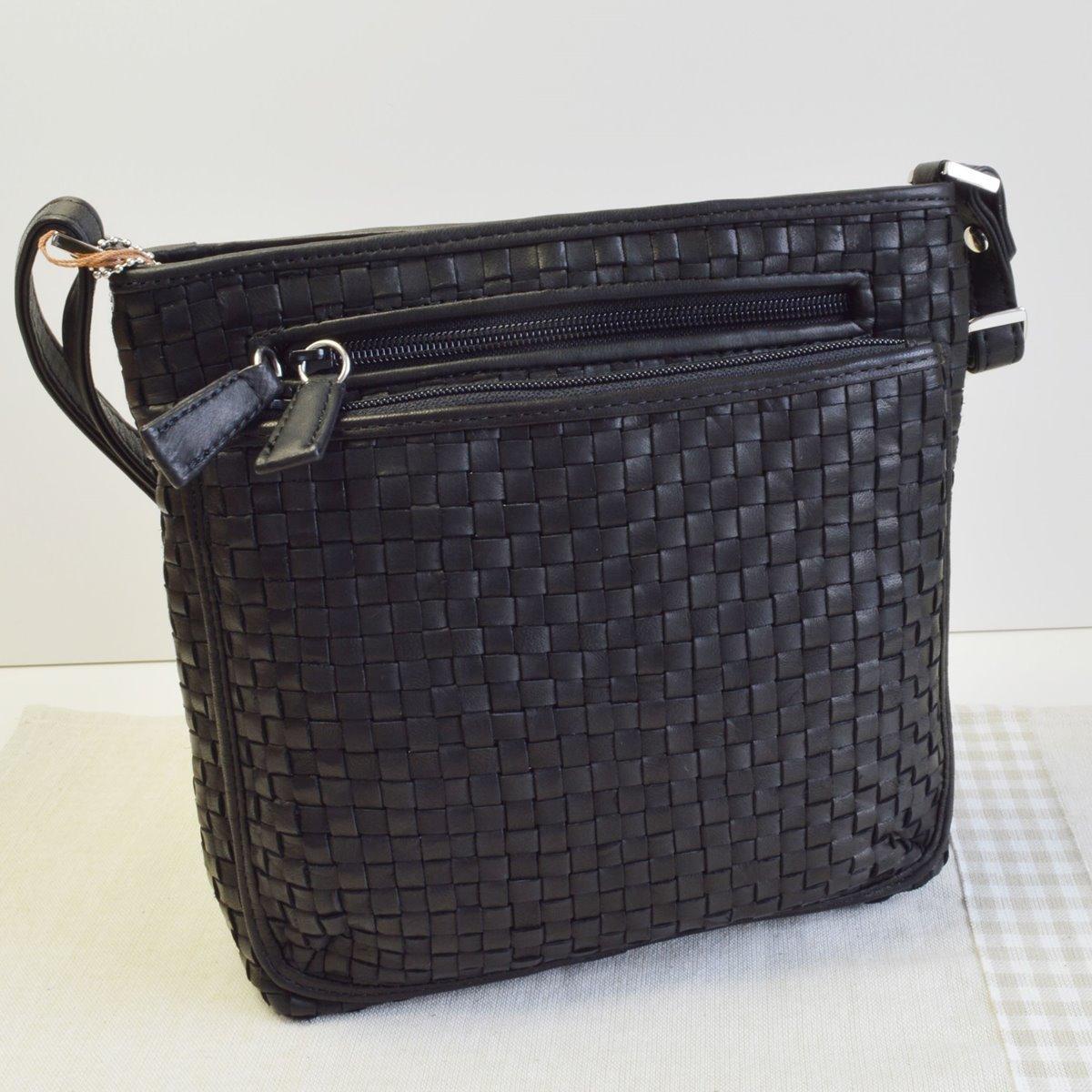 ポニーメッシュ ショルダーバッグ BLACK(ブラック) ポニーレザー 本革 馬革鞄 かばん No.33260 メンズバッグ レディースバッグ B06W9L86Z4