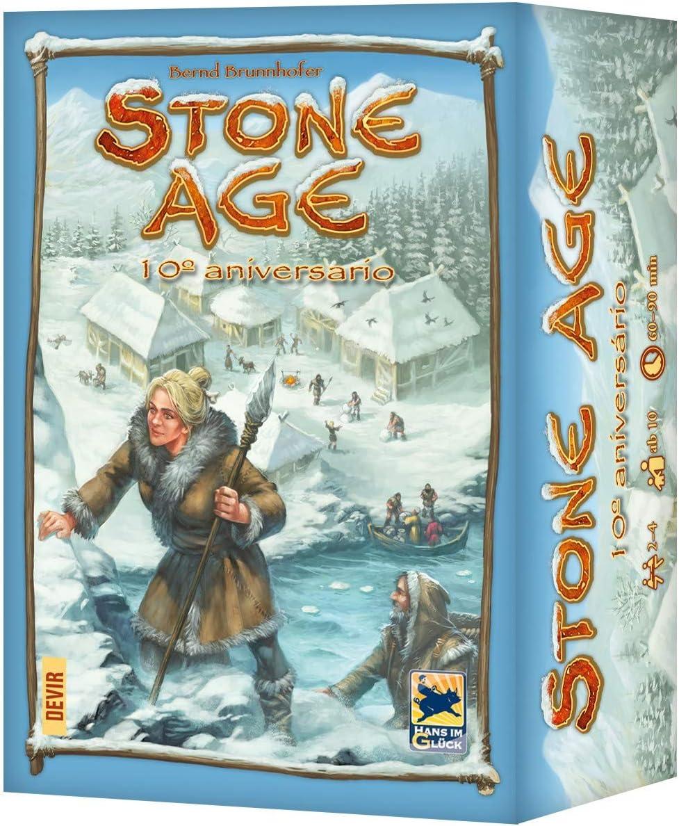 Devir- Stone Age, edición 10º Aniversario en Castellano, Multicolor (BGXSTONE): Amazon.es: Juguetes y juegos