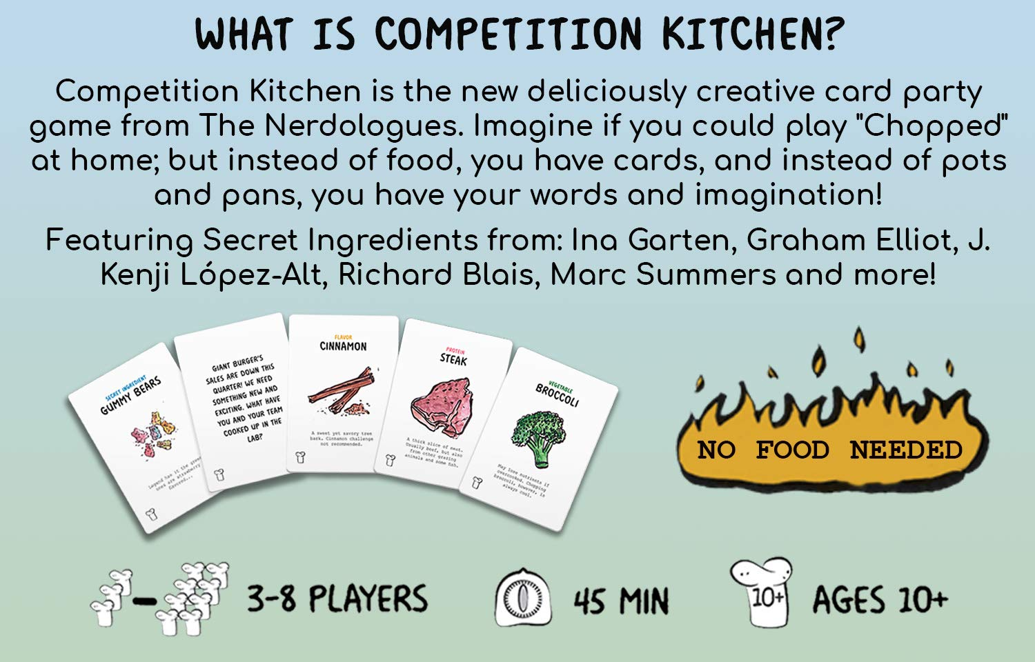 Amazon.com: Competition Kitchen Card Game | The Cooking Craze Party ...