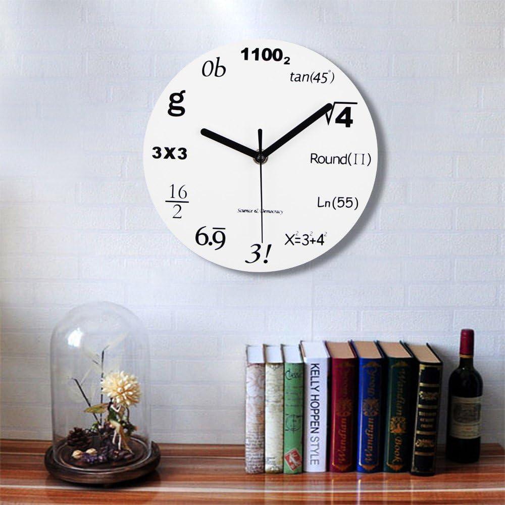 Horloge Murale Acrylique Design Moderne math/ématique Accessoires de d/écoration de Bureau /à Domicile Jacksking Horloge Murale