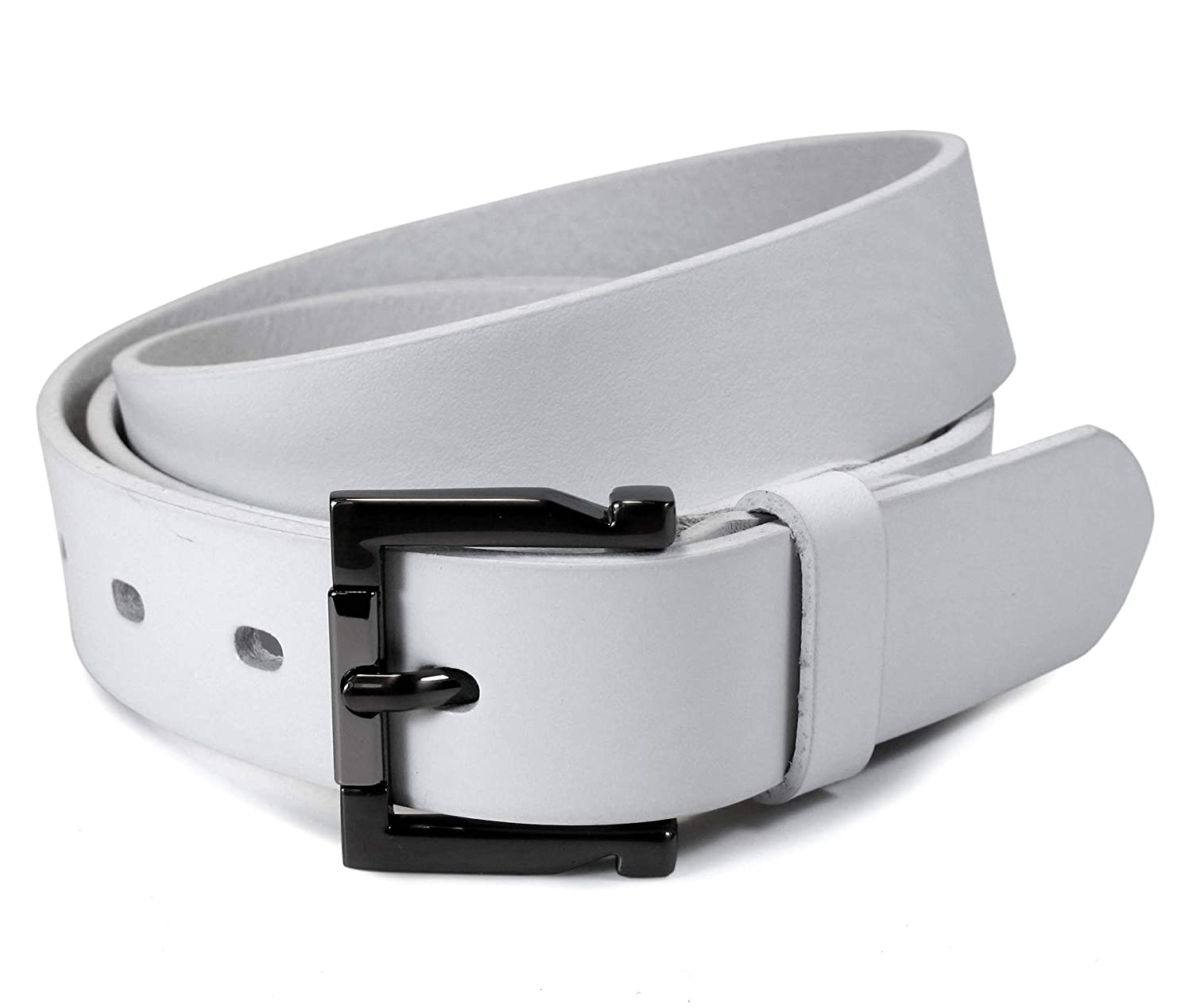 Womens Real Genuine Leather Belt Black Brown White 1.1 Wide S-L Casual Jeans TW5
